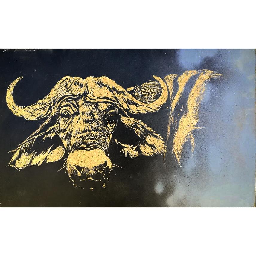 Buffalo - Carved board A3 - R300