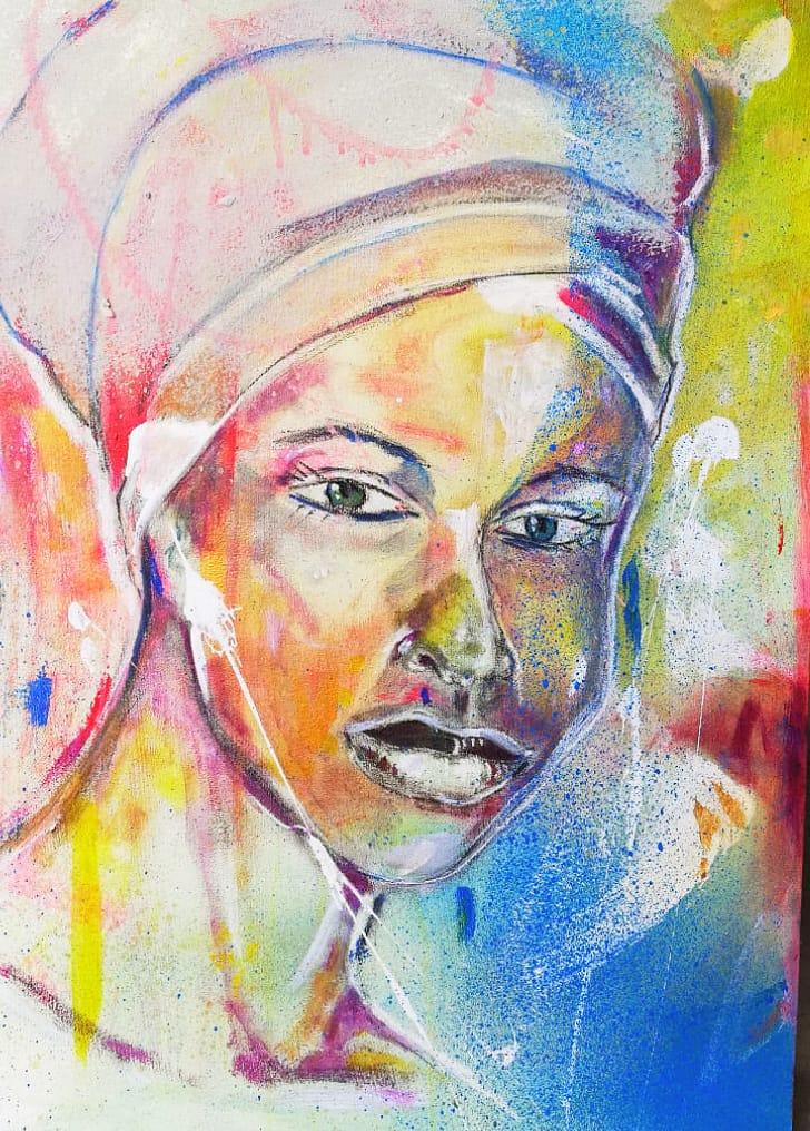 WOW - Acrylic on Canvas 43x50cm - R475 - AS